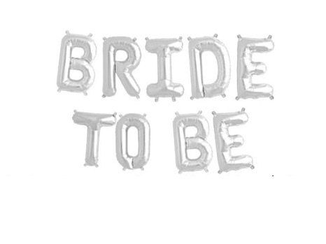 Bride to be helium balloon banner silver AND by allthesmalldetails