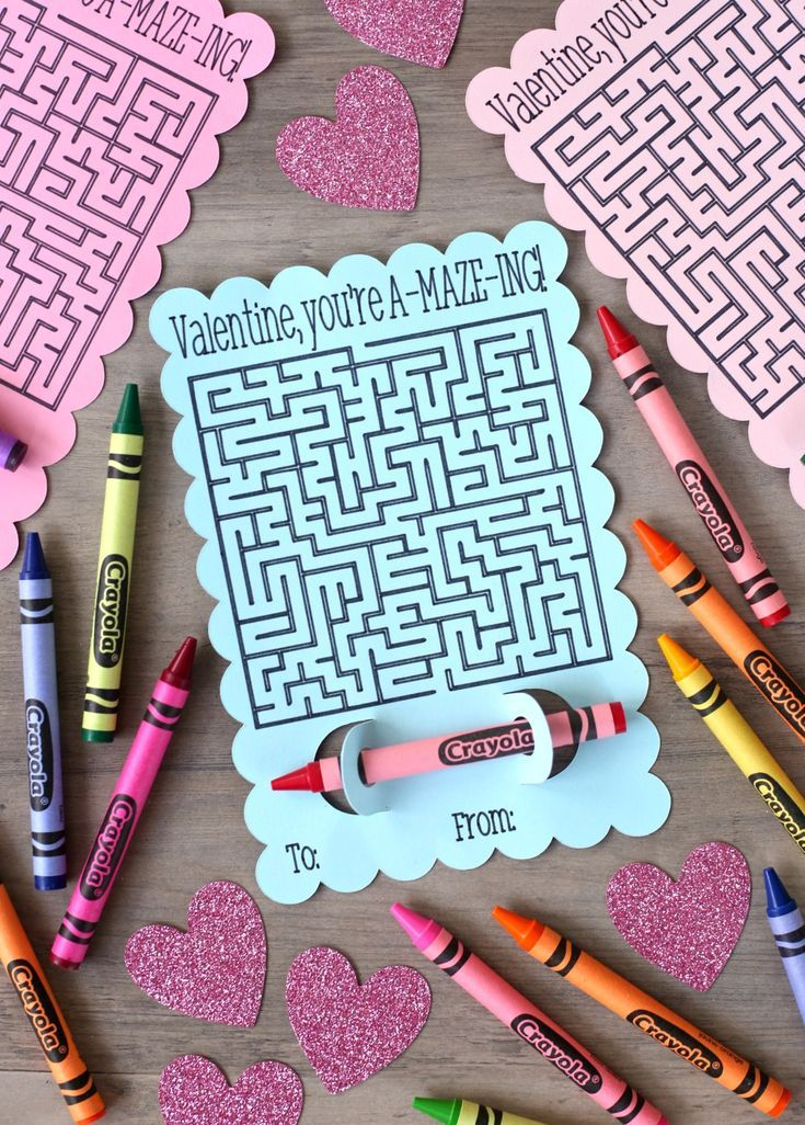 Maze Valentine S Day Cards A Fun Valentine Cricut Project With
