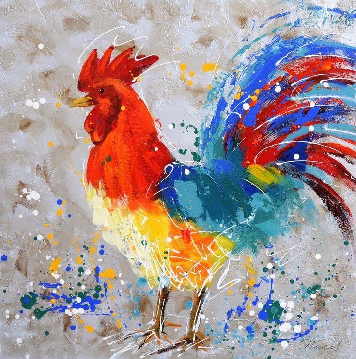 Meer dan 1000 idee n over haan schilderij op pinterest haan kunst kip kunst en schilderijen - Schilderij ingang en gang ...