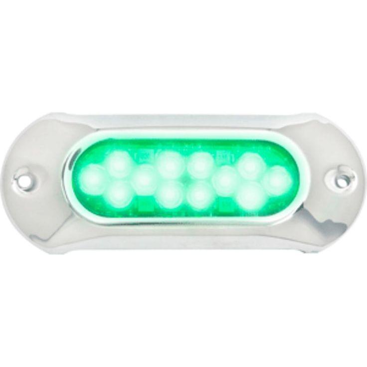 Attwood Light Armor Underwater LED Light - 12 LEDs - Green