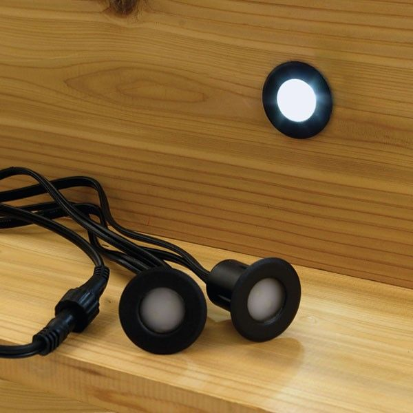 deck step lights prevent trips and falls and a recessed led step light by deckorators is - Led Deck Lights