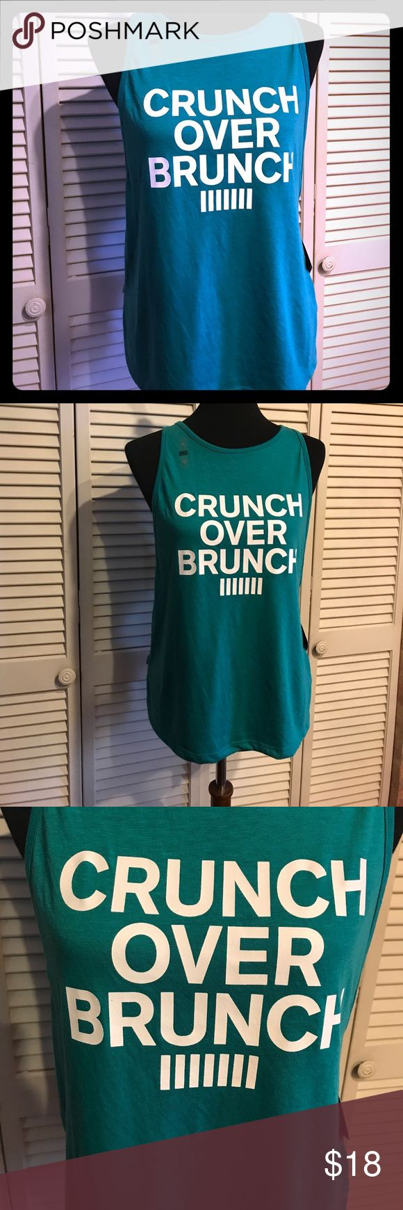 Crunch over Brunch workout tank size Small Teal Adorable teal Victoria's Secret VSX sport tank size small. Measures Victoria's Secret Tops Tank Tops