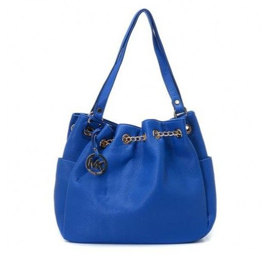 Michael Kors Chain Ring Large Blue Shoulder Bags [mk_1606]