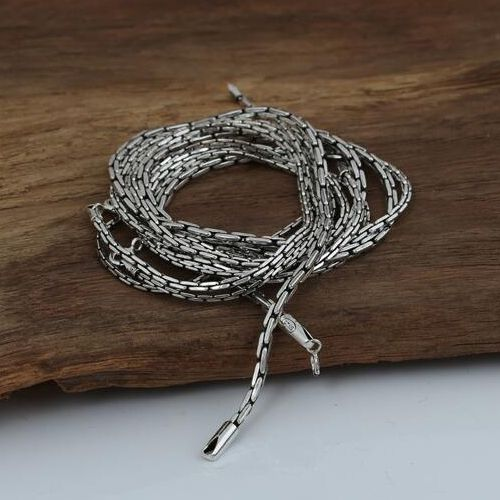 "1.5-3 mm Men's Sterling Silver Coreanna Chain 18""-24"""