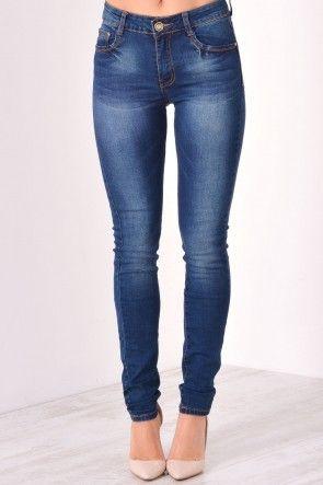 Terri Skinny Jeans in Denim Blue
