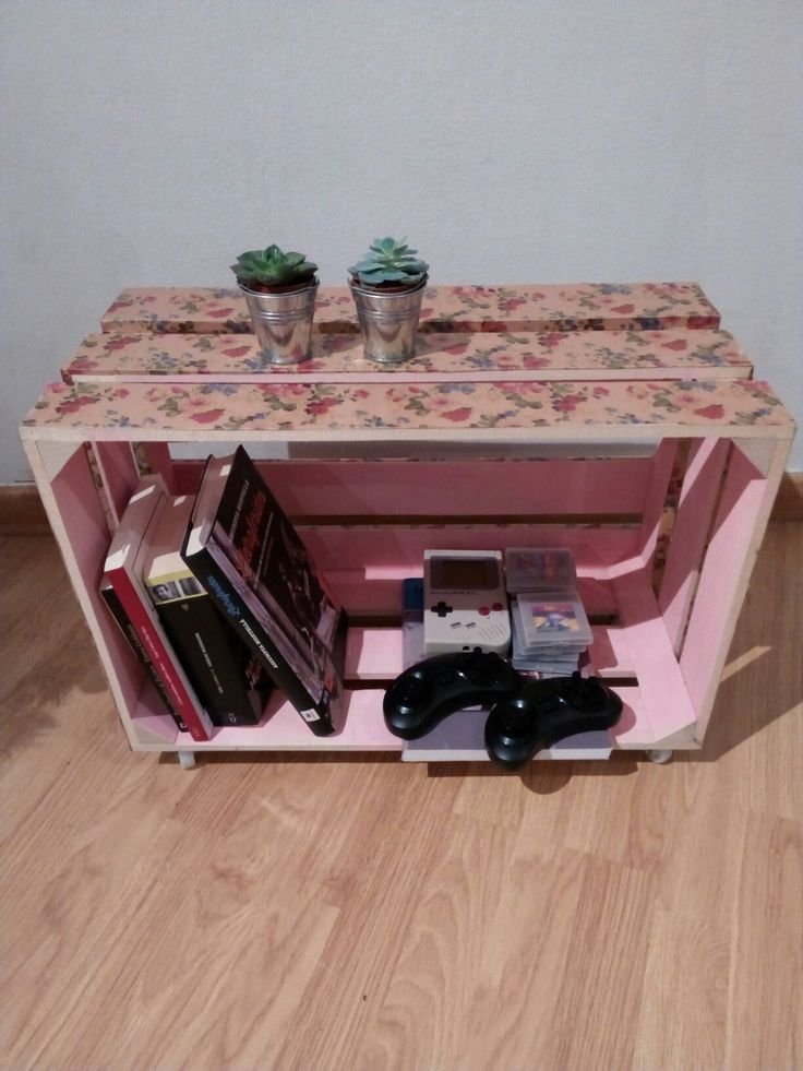 Diy storage wooden box, decorated with decoupage and chalk paint