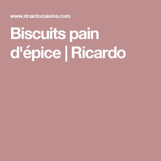 Biscuits pain d'épice | Ricardo