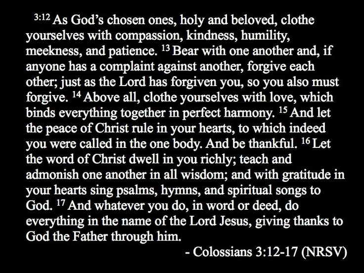 Colossians 3:12-17 - this chapter is so wonderful to me!