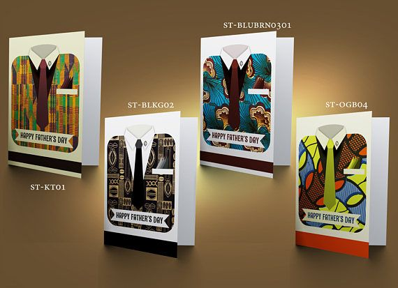 Ethnic Suit & Tie Father's Day Cards