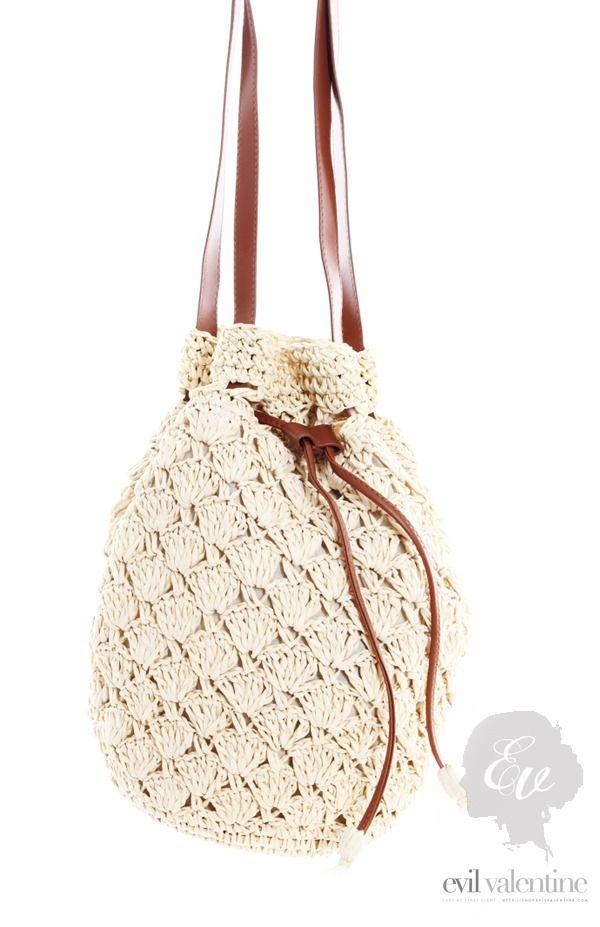 Crochet Weaved Bucket Bag