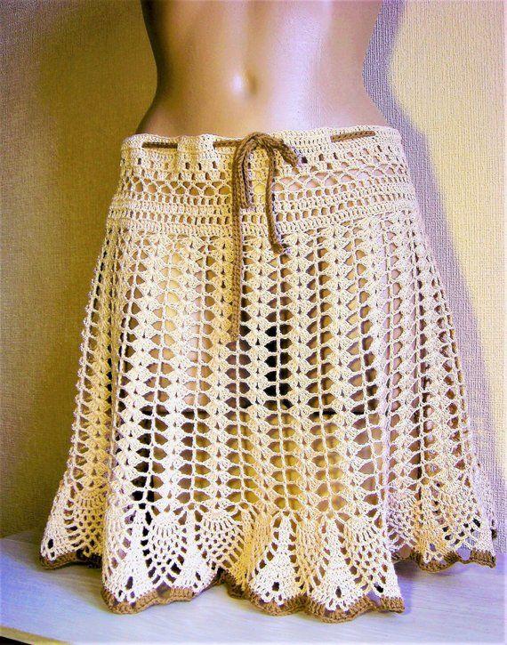Häkelrock   – Skirt , shorts / юбки, шорты