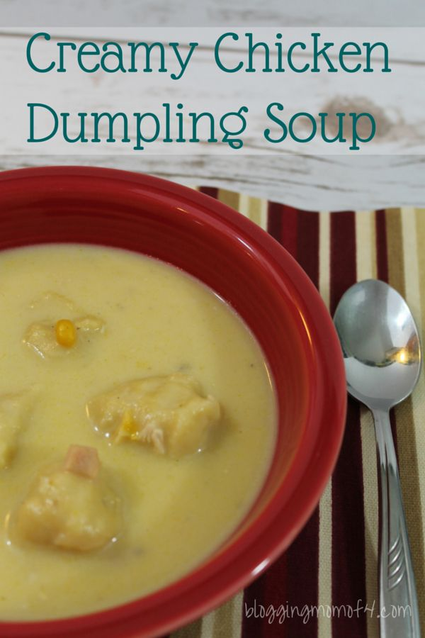 This Creamy Chicken Dumpling Soup is such an easy soup to make that you can make it anytime. The best time to make it is when you have left over chicken. Take a look..