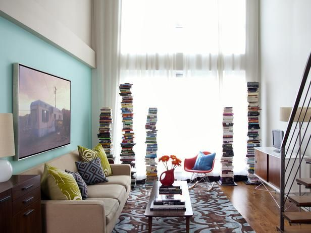 Small Space Solutions: Living Rooms and Kitchens: Living Rooms Storage, Organizations Ideas, Small Spaces Design, Small Spaces Decor, Spaces Pictures, Living Rooms Shelves, Small Spaces Solutions, Books Storage, Small Space Solutions
