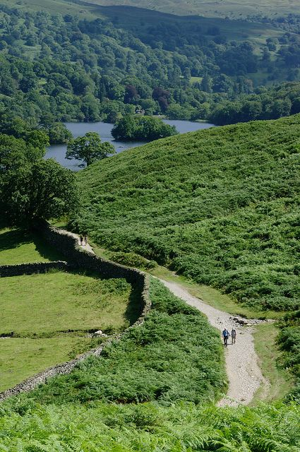 """Rydal Water, Cumbria, England """" I want to follow some meandering path to where I've never been before - a bridge, if you will, between worlds and ages ..."""" - G. Beament"""