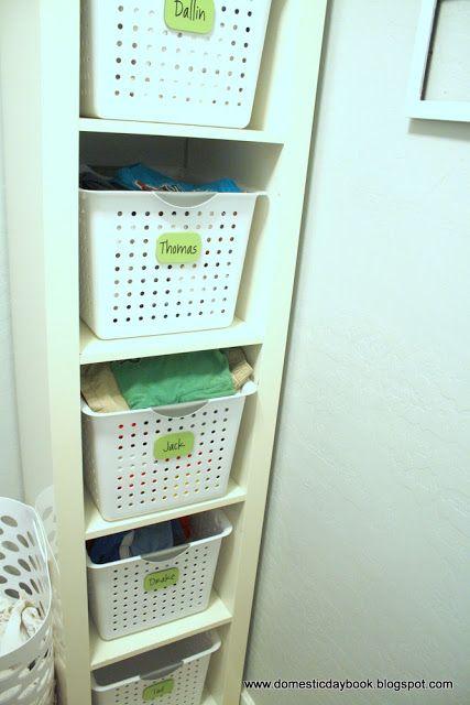My Domestic Daybook: Tiny Laundry Room Reorganization