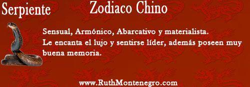 Signo del zodiaco Chino la Serpiente