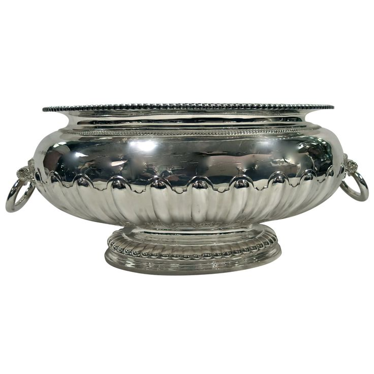 Large Oval Sterling Silver Centerpiece Bowl | From a unique collection of vintage silver bowls at http://www.1stdibs.com/jewelry/silver-flatware-silverplate/silver-bowls/