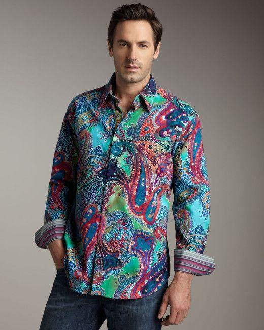 Robert Graham   Multicolor Cholla Cactus Printed Long-sleeve Sport Shirt for Men   Lyst