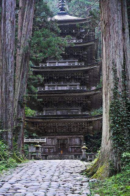 "dinodi: "" Goju-to on Mount Haguro, Yamagata Prefecture """