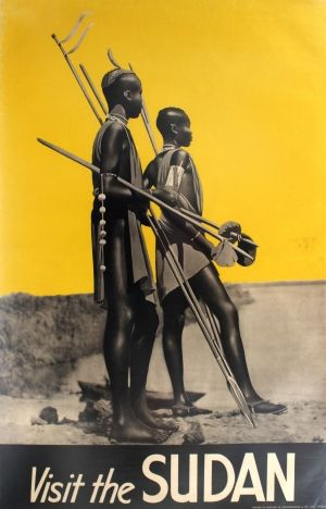 Visit the Sudan, 1930s - original vintage poster listed on AntikBar.co.uk