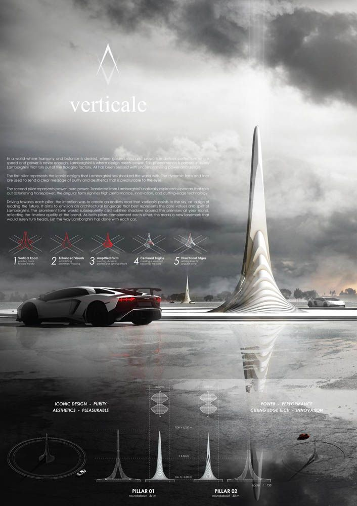 Lamborghini Road Monument Competition HONOURABLE MENTION