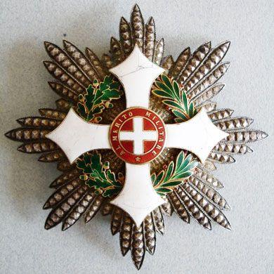 Placca da Cavaliere di Gran Croce dell'Ordine Militare di Savoia
