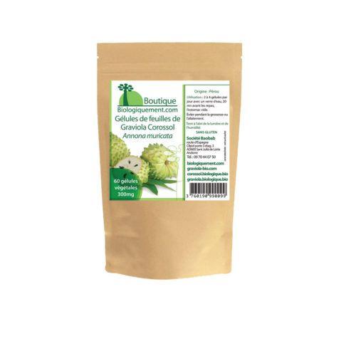 Gélules de poudre de feuilles de Graviola Corossol anti-cancer naturel puissant