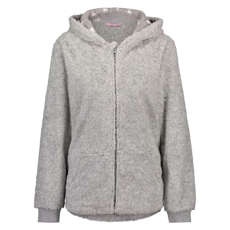 This cardigown will help you get through the cold days of winter and features nice koala details.