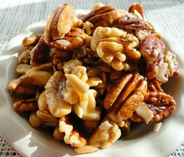 Honey Roasted Nuts. Tried this recipe and it was delicious! Simply substituted the butter with coconut oil. Would definitely make again.