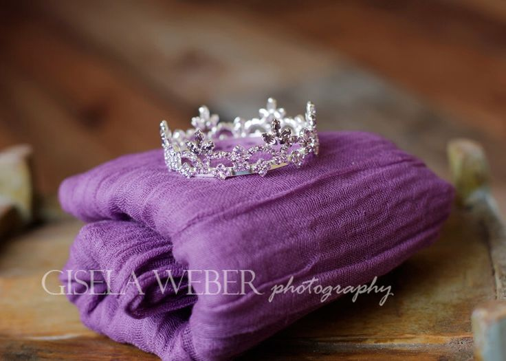 Newborn Cheesecloth Wrap, Newborn CROWN, Baby Wrap, Purple Cheesecloth, Newborn Photo Prop, Newborn Halo, Purple Baby Crown by SnassyCrafter on Etsy https://www.etsy.com/listing/200980401/newborn-cheesecloth-wrap-newborn-crown