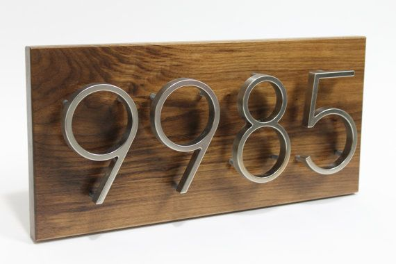 House Numbers ContemporaryHouse Number Sign by Reclaimedforyou1, $99.85