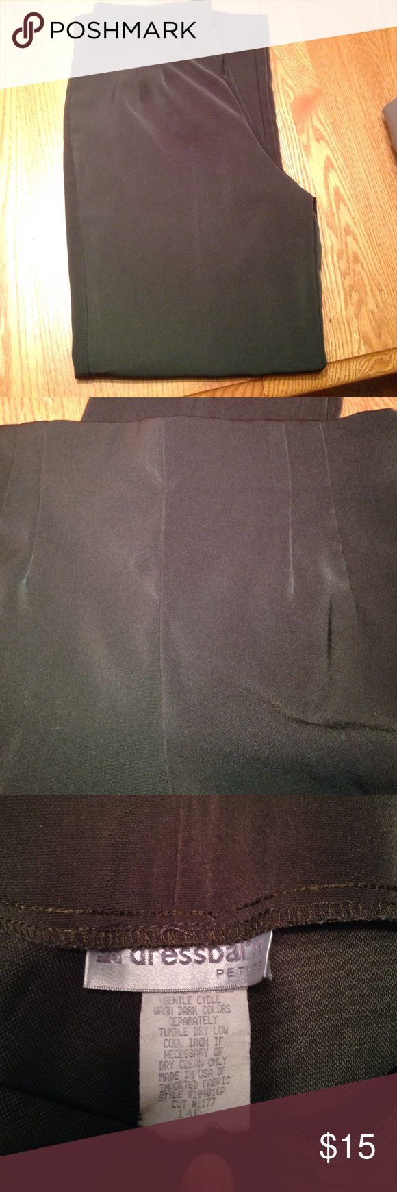 Ladies olive green slacks They don't look it but they are a beautiful olive green. Very comfy. Side hidden zipper. Dress Barn Pants Trousers