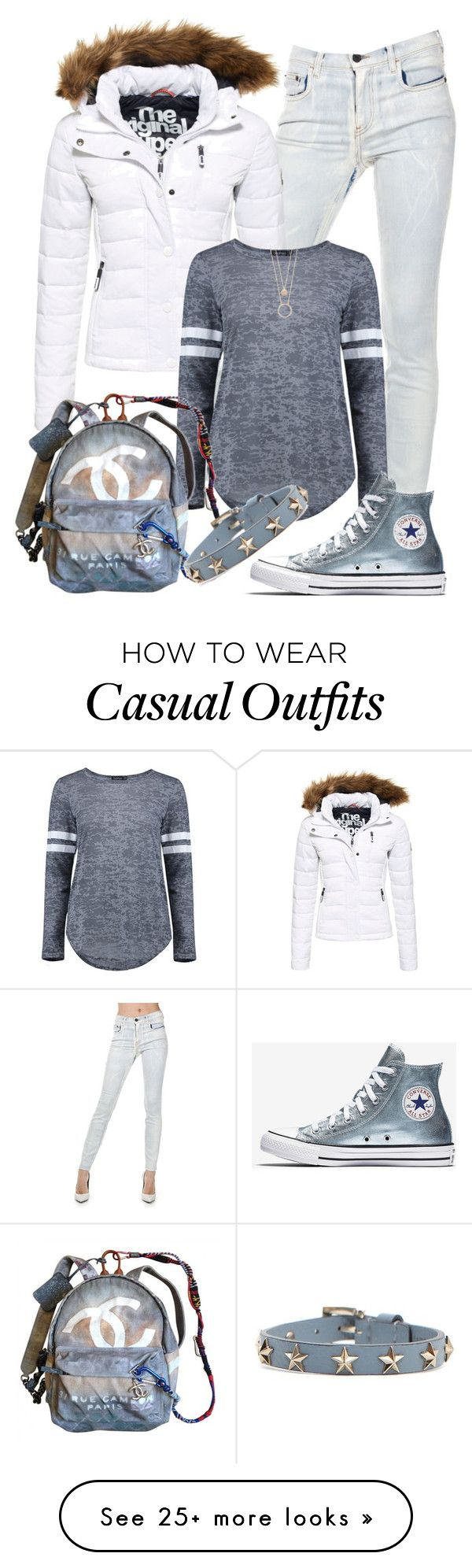"""""""Casual"""" by alice-fortuna on Polyvore featuring Proenza Schouler, Superdry, Boohoo, Chanel, Kate Spade and RED Valentino"""