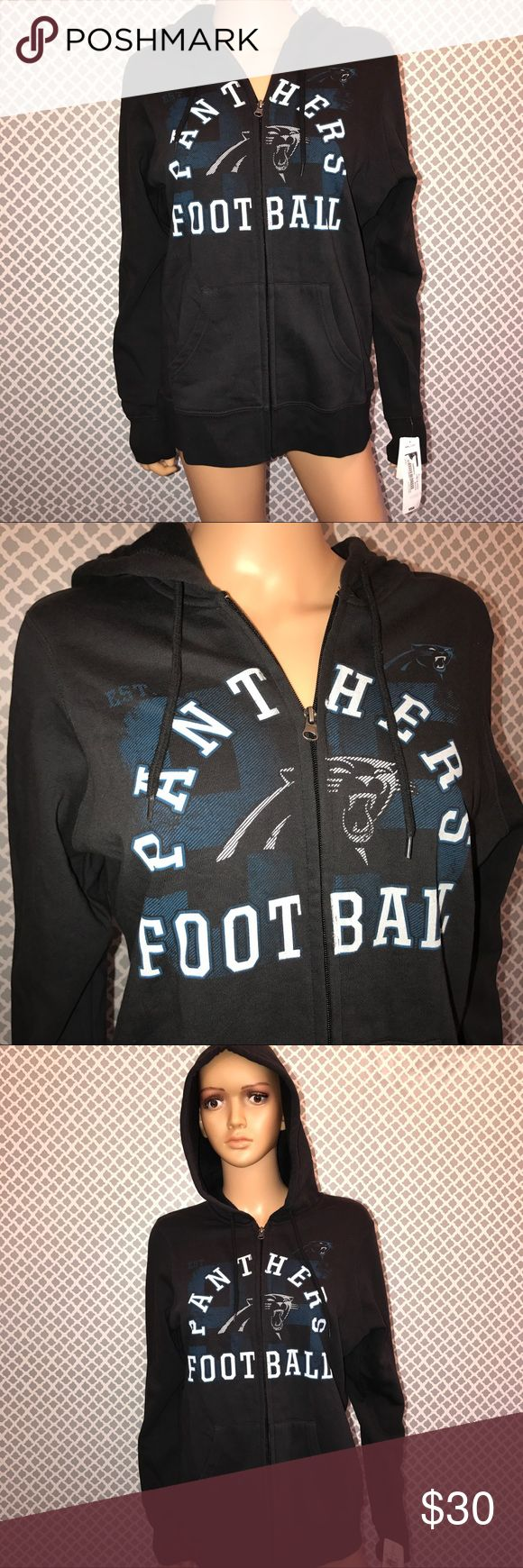 NWT NFL Carolina Panthers Team Apparel Hoodie sz L New with tags. Medium weight. Size Large. Rep your team! 🐾 NFL Jackets & Coats