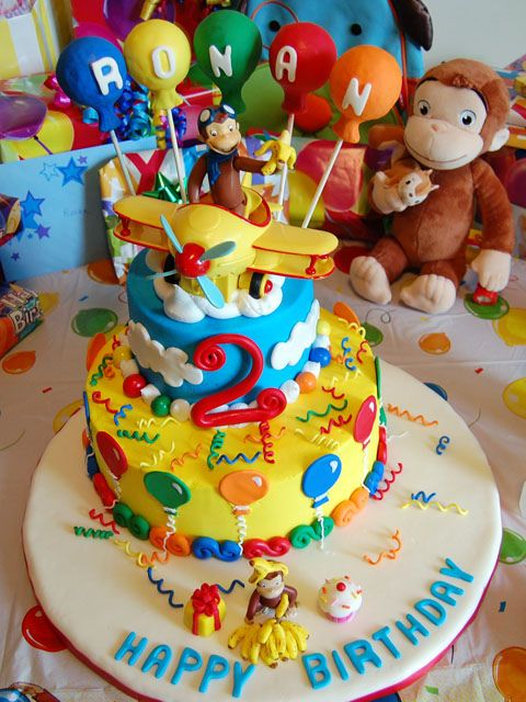 Thanks to other Curious George CC'ers for the inspiration and advice in making this cake for my son's 2nd birthday. It was a hit!