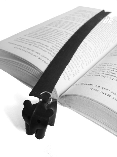 NALLE bookmark. Made out of recycled rubber from bycicle innertubes
