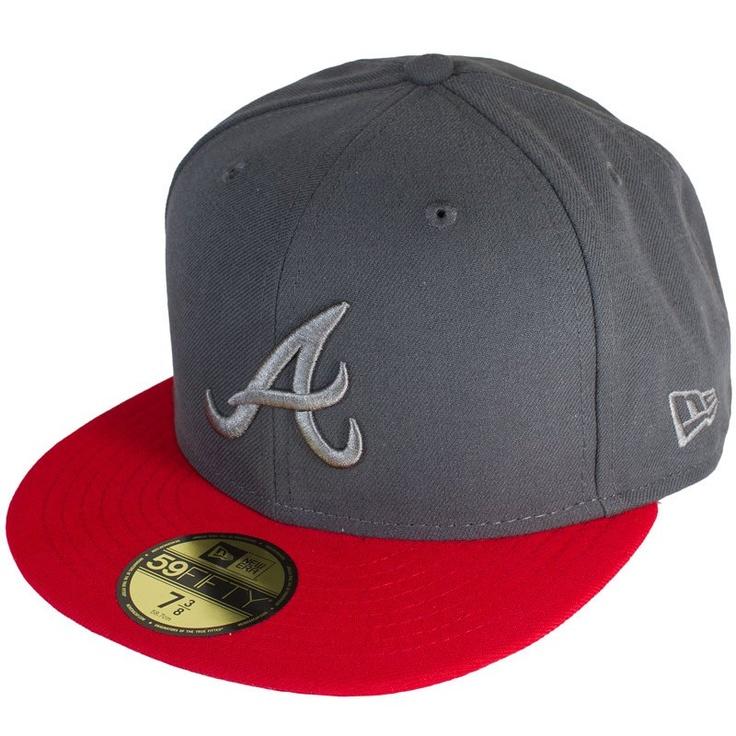 d9d32381b4c Cap New Era Poptonal Atlanta Braves graphite red - günstig online kaufen