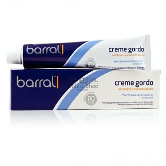 "$10.65 -  One of the most successful Portuguese products of all time, ""Creme Gordo Barral"" is a must have for any dry skin care and known as the very best cream for preventing pregnancy marks and stretch marks.    Ideal for the hydration of very dry skin, solar dehydration, cold irritation and sensitivity, flaking skin and prevention of striae."