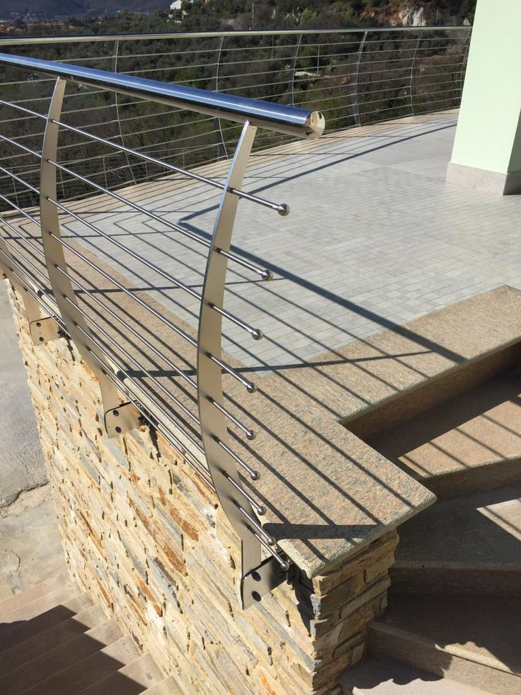 Parapetto esterno ringhiera dei terrazzi in acciaio inox ...