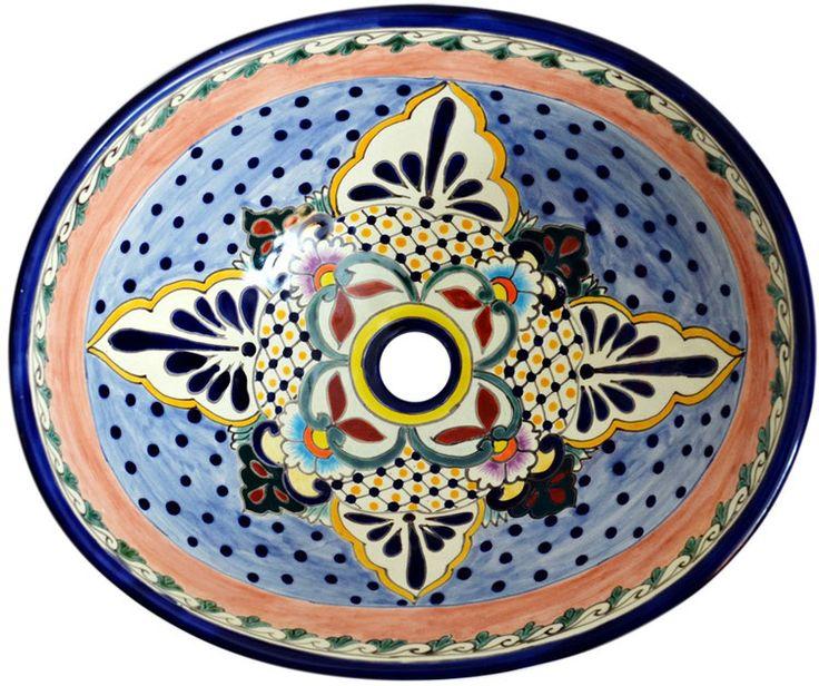 MERIDA - MEX7 Aufsatzwaschbecken oval aus Mexiko