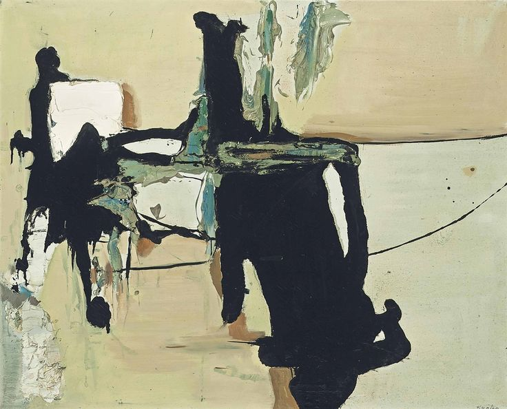 Tadeusz Kantor -, Untitled, 1959. Oil and enamel on canvas