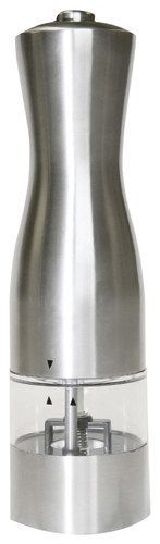 iTouchless - EZ Hold Electronic Salt or Pepper Mill/Grinder - Brushed Stainless-Steel, PM003S