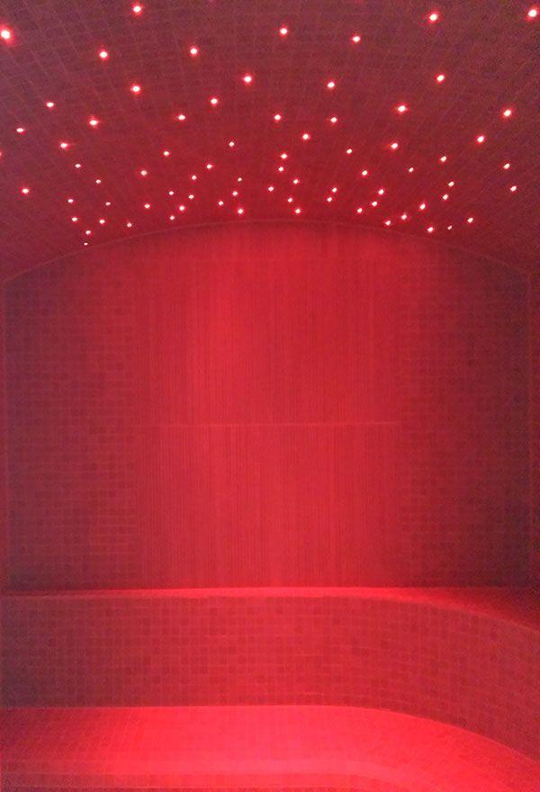 illuminazione sauna fibra ottica rgb on Behance
