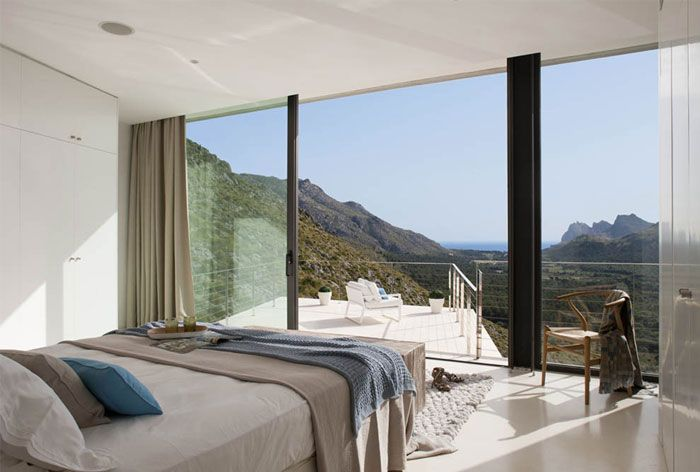 Minimalist Modern Home stone wall stunning house4