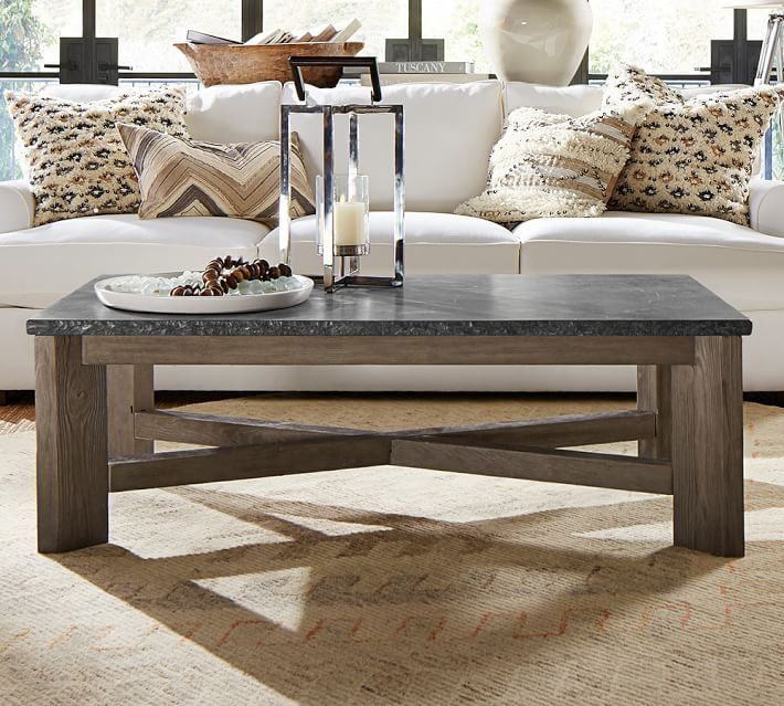 Fulton Stone And Wood Coffee Table
