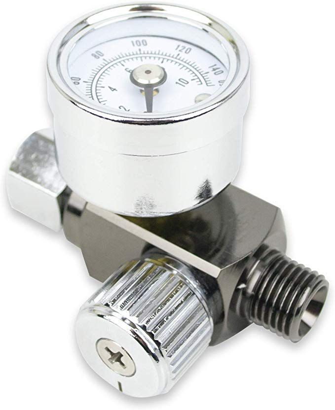 Air Adjusting Regulator Valve With Pressure Gauge For Spray Guns And Air Tools 1 4a Npt Review Pressure Gauge Air Tools Valve