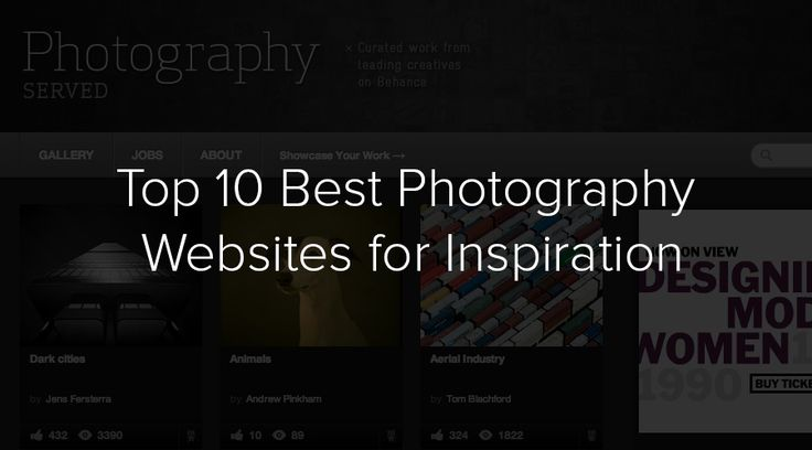 Photography is an art. In this post we feature 10 of the best photography websites for inspiration. Get ready to be amazed with these inspiring sites.