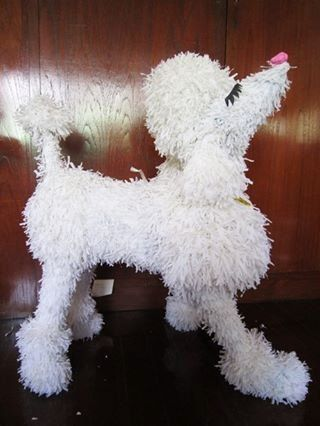 Poodle Dog Pinata by ManeePaperArt on Etsy, $76.00
