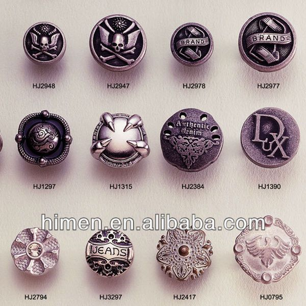 Source Flower/eagle/skull zinc alloy shank buttons JB-04 on m.alibaba.com