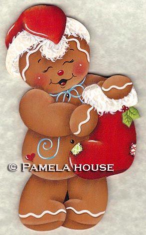 Jolly Ginger Ornament Blank